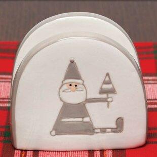 Holiday Santa Ceramic Standing Napkin Holder