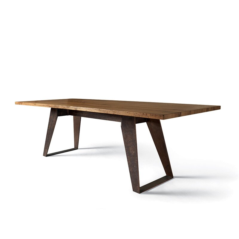 Yumanmod Benjamin Solid Wood Dining Table Wayfair