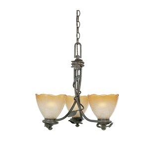 Gorby 3-Light Shaded Chandelier by Fleur De Lis Living