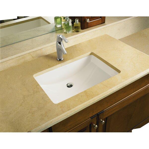Kohler ladena ceramic rectangular undermount bathroom sink for Kohler ladena white undermount rectangular bathroom sink with overflow