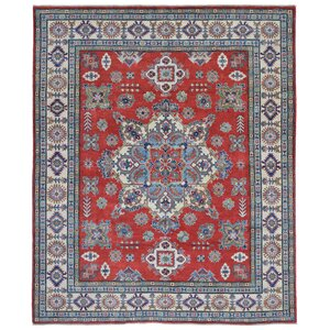 Abbotsford Traditional Oriental Hand Woven Wool Red/Beige Area Rug