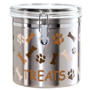 Stainless Steel Airtight 4.06 qt. Pet Treat Jar
