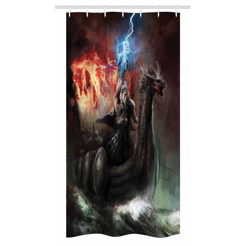 "72/"" Fantasy Underwater World Shower Curtain Bathroom Waterproof Fabric /& 12 Hook"