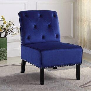 House of Hampton Briggs Velvet Slipper Chair