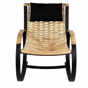 Bayou Breeze Hampton Teak Rocking Chair with Cushions