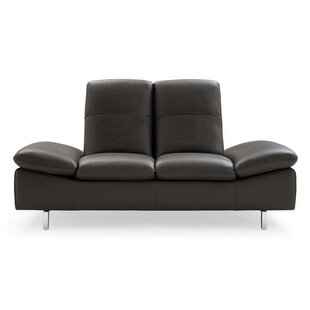 Wade Logan Ahmed Leather Loveseat