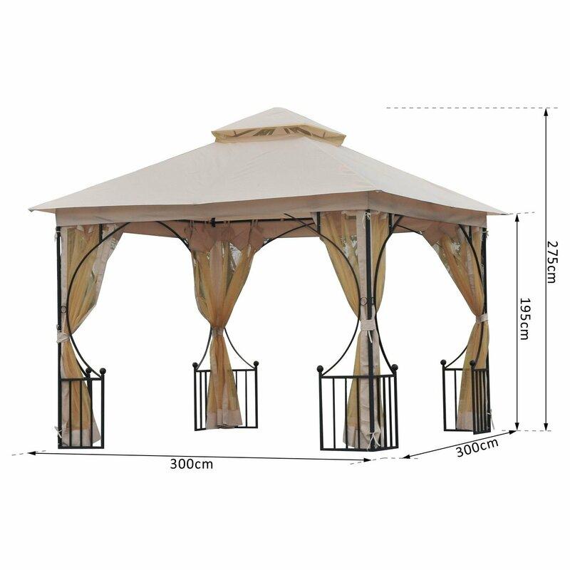 vintage boulevard 300 cm x 300 cm pavillon aus metall. Black Bedroom Furniture Sets. Home Design Ideas