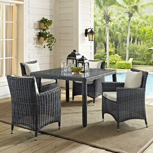 Keiran 5 Piece Dining Set with Sunbrella Cushions by Brayden Studio