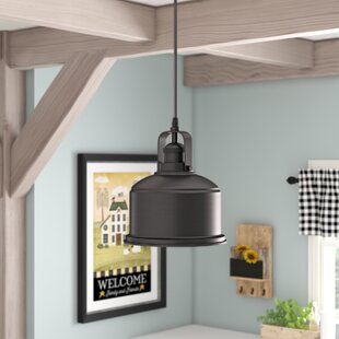 Bouvet Industrial 1-Light Bell Pendant by Laurel Foundry Modern Farmhouse