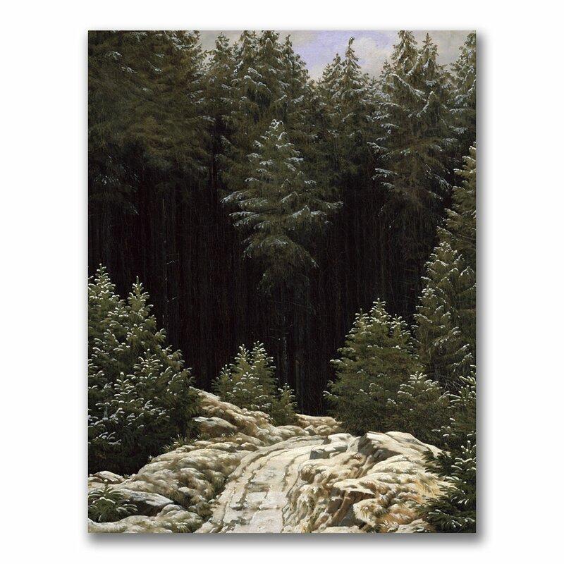 Trademark Art Early Snow By Caspar David Friedrich Photographic Print On Wrapped Canvas Wayfair