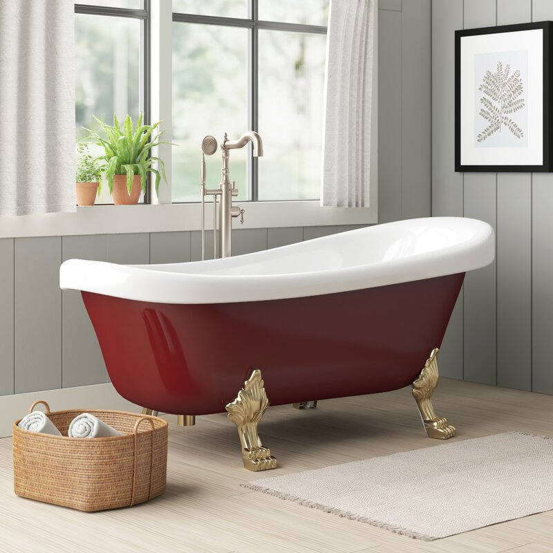 Birch Lane Arseni Soaking Clawfoot Bathtub