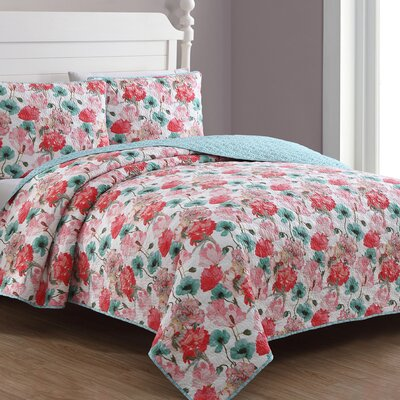 Estate Stacia Reversible Quilt Set American Home Fashion Size: King