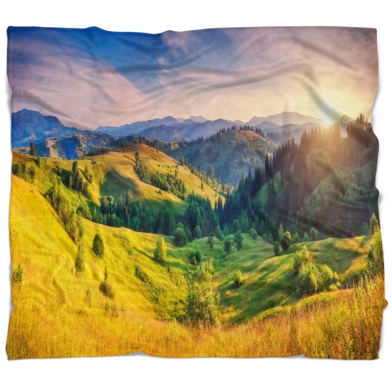 East Urban Home Hills Glowing By Sunlight Blanket Wayfair