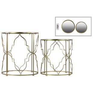 Metal Round 2 Piece Nesting Tables by Urb..