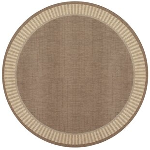 Zachary Wicker Stitch Flatweave Cocoa/Natural Indoor/Outdoor Area Rug by Andover Mills