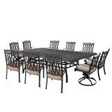 Otsego 11 Piece Aluminum Dining Set with Cushions