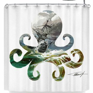 Ivan Joh Octopus Single Shower Curtain