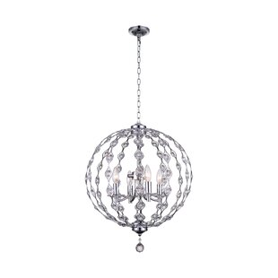 CWI Lighting Esia 4-Light Globe Chandelier