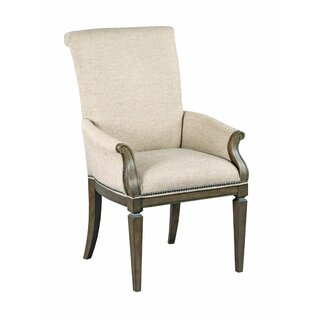 Ainsley Upholstered Arm Dining Chair in White by One Allium Way SKU:AD545311 Reviews