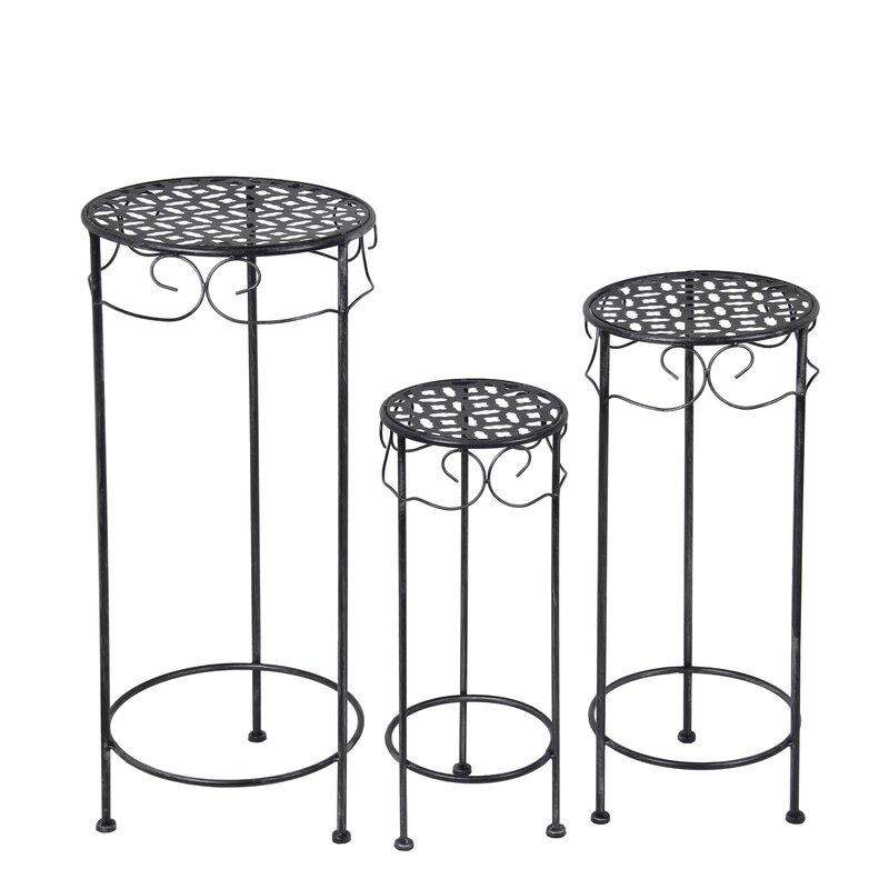 Alcott Hill Schneider 3 Piece Round Nesting Plant Stand