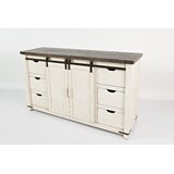 Westhoff 60 Wide 6 Drawer Pine Wood Credenza by Gracie Oaks