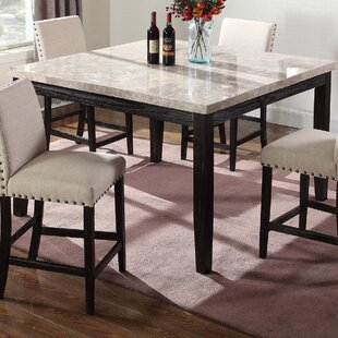 BestMasterFurniture Marble Counter Height Dining Table