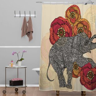 Deepak Rosebud Single Shower Curtain