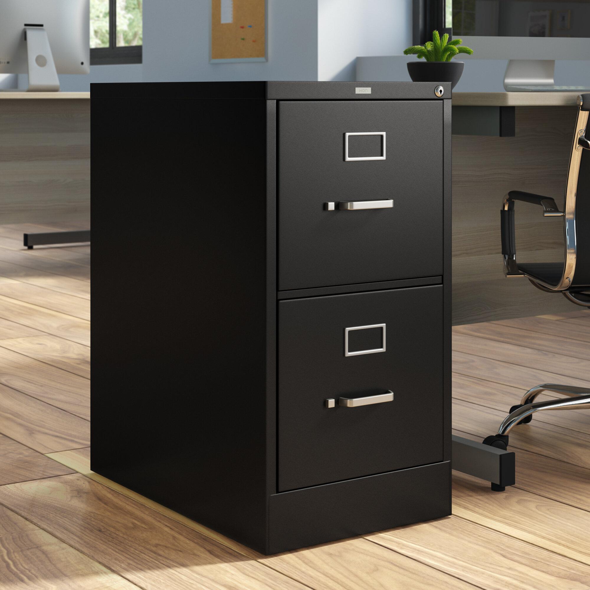 Image of: Hon 510 Series 2 Drawer Vertical Filing Cabinet Reviews Wayfair