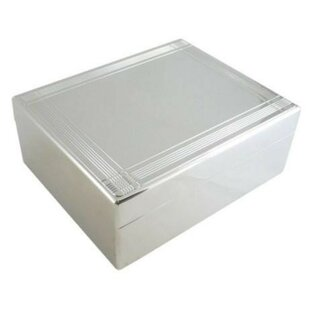 Affordable Hinged Jewel Box with Striped Border By Heim Concept