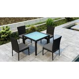Glendale 5 Piece Dining Set with Sunbrella Cushion