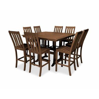 Tremendous Vineyard Nautical Trestle 9 Piece Bar Height Dining Set Forskolin Free Trial Chair Design Images Forskolin Free Trialorg
