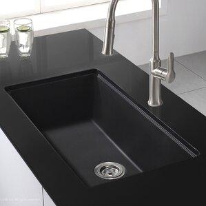 Undermount Kitchen Sink With Drainer modern kitchen sinks | allmodern