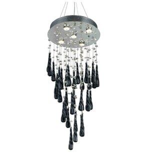 Chicken wire chandelier wayfair hensler 5 light wire crystal chandelier aloadofball Choice Image