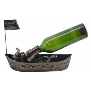 Pirate In Boat 1 Bottle Tabletop Wine Rack by Wine Bodies