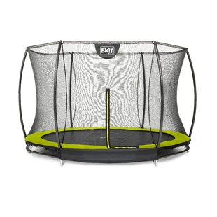 Silhouette 11' Backyard In-Ground Trampoline With Safety Enclosure By Exit Toys