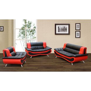 Feathers 3 Piece Living Room Set by Orren Ellis