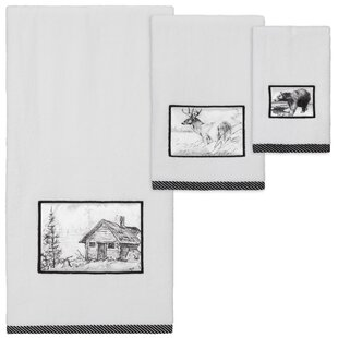 Blanca Sketches 3 Piece Cotton Towel Set