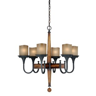 Loon Peak Port Morris 6-Light Shaded Chandelier