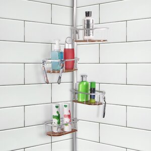 Teak Tension Rustproof Shower Caddy