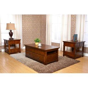 Loon Peak Cleorand 3 Piece Coffee Table Set