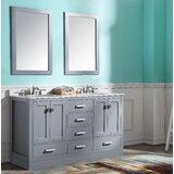 Tia Skirted 60 Double Bathroom Vanity Set with Mirror by Brayden Studio®