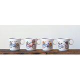 Cromwell Bicycle 4 Piece Coffee Mug Set