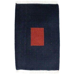 Rossett Handwoven Wool Blue Indoor/Outdoor Rug By Bloomsbury Market