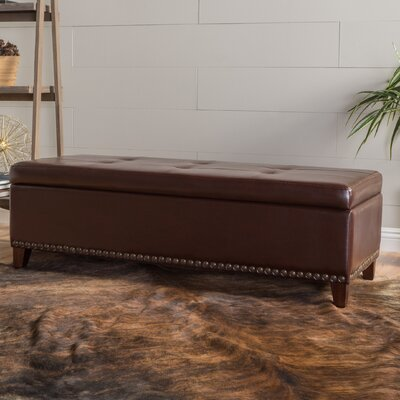 Fantastic Charlton Home Lemire Leather Storage Bench Theyellowbook Wood Chair Design Ideas Theyellowbookinfo