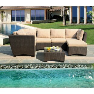 Brayden Studio Dahl 7 Piece Sectional Set with Cushions
