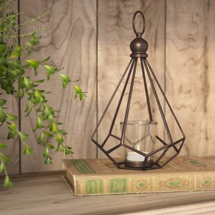 Contemporary Metal Hurricane Lantern