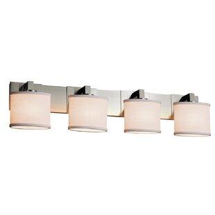 Ebern Designs Favela 4 Light LED Oval Vanity Light