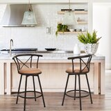 Pleasanton Swivel Counter & Bar Stool (Set of 2) by Winston Porter