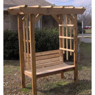 Threeman Products Park Style Garden Arbor with Bench
