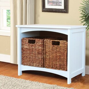 Highland Dunes Mak Wood Storage Bench